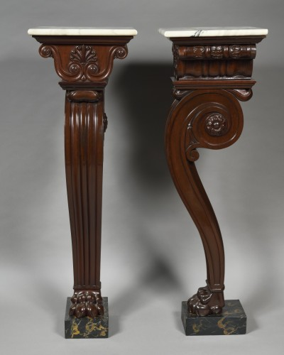 Decorative Objects  - Pair of 19th century mahogany pedestal  - Attributed to Thomas Hope