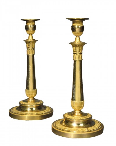 Pair of greek style candlesticks - Empire period