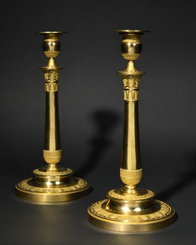 Pair of greek style candlesticks - Empire period - Lighting Style