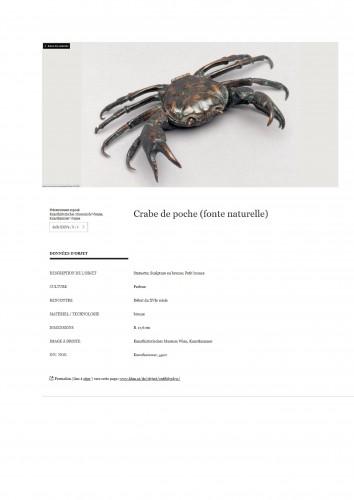Curiosities  - Bronze crab - Padua early 16th century