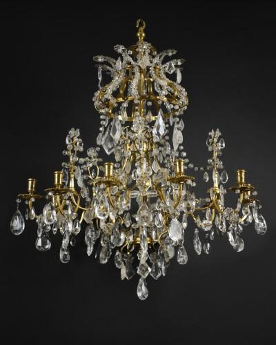 Ormolu and rock crystal chandelier - circa 1740