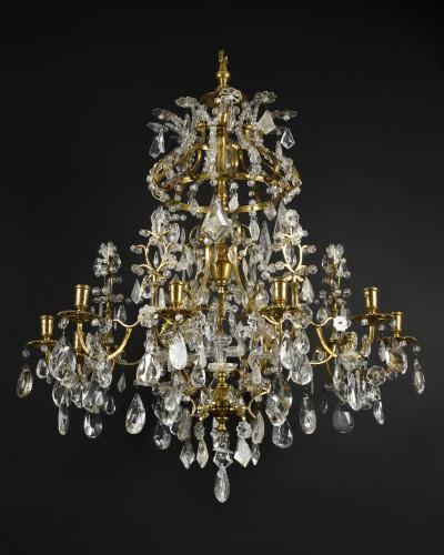 Ormolu and rock crystal chandelier - Genoa circa 1740 - Lighting Style