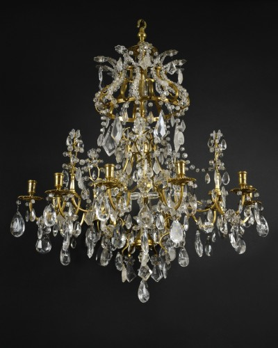 Lighting  - Ormolu and rock crystal chandelier - Genoa circa 1740