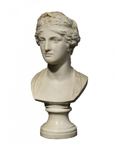 Marble bust representing the muse Urania - late 19th century