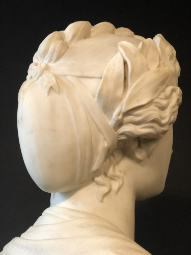 19th century - Marble bust representing the muse Urania - late 19th century