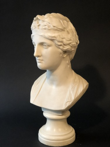 Marble bust representing the muse Urania - late 19th century   - Napoléon III