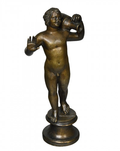 After the antique, Cupid with an amphora - 19th century