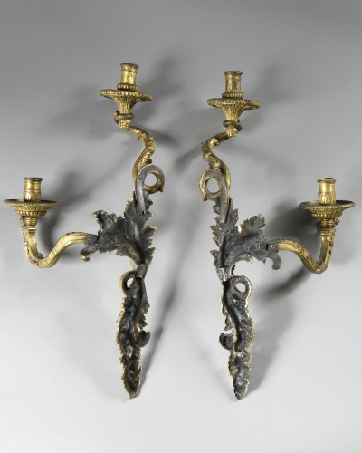 Pair of Louis XIV wall lights, model of André Charles Boulle - Lighting Style