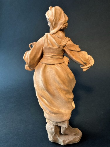 Terracotta representing a woman - 18th century Southern Italy - Sculpture Style