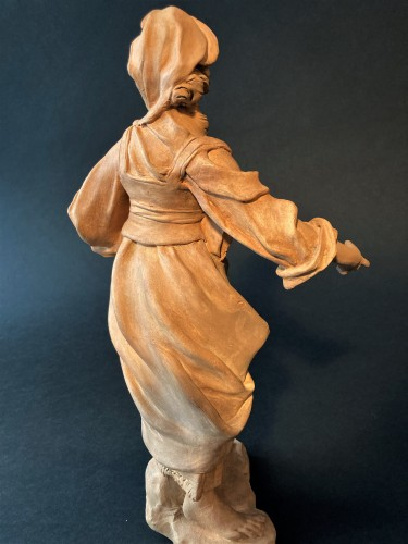 Sculpture  -  Terracotta representing a woman - 18th century Southern Italy