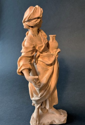 Terracotta representing a woman - 18th century Southern Italy -