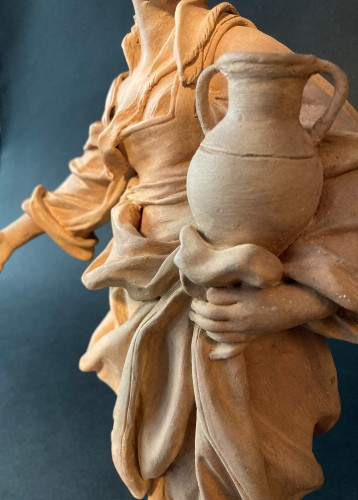 18th century -  Terracotta representing a woman - 18th century Southern Italy