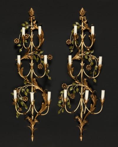 Maison Baguès (attr.) - Pair of large sconces      - Lighting Style