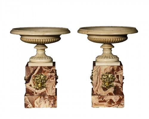 Pair of marble tazzas - Roma 18th Century