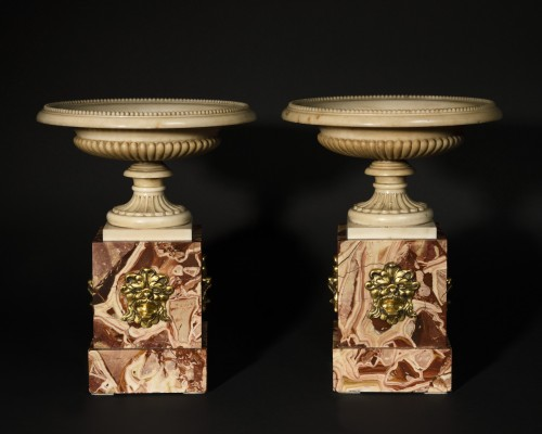 Pair of marble tazzas - Roma 18th Century - Decorative Objects Style