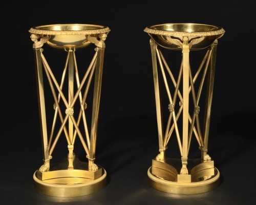 Pair of athenienne cups - Empire period  - Decorative Objects Style Empire