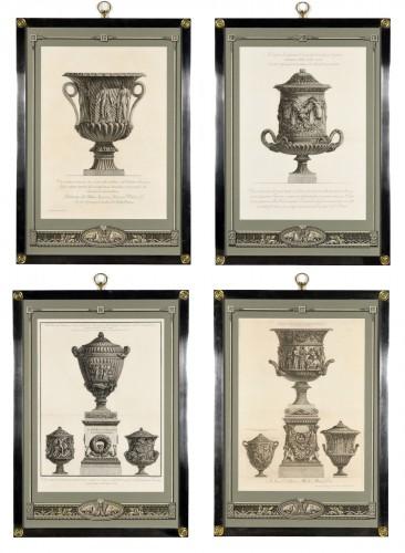 Set of framed engravings by Piranesi