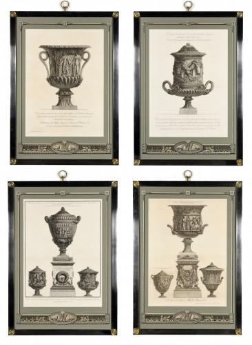 Set of framed engravings by Piranesi     - Engravings & Prints Style