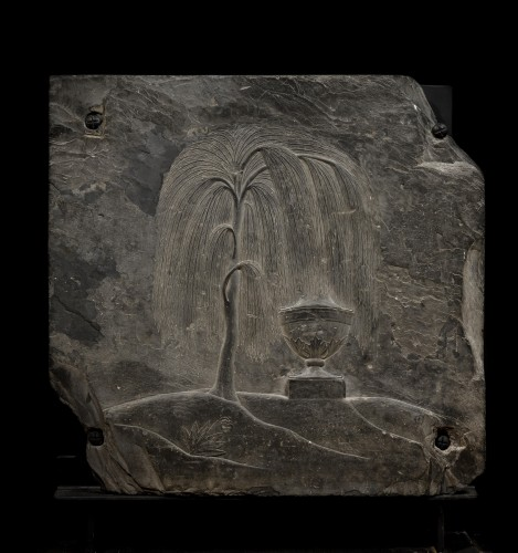 Weeping willow slate bas-relief  - Decorative Objects Style