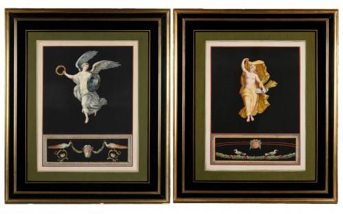Pair of Pompeian allegories - Michelangelo Maestri