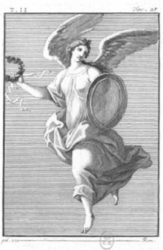 Pair of Pompeian allegories - Michelangelo Maestri -