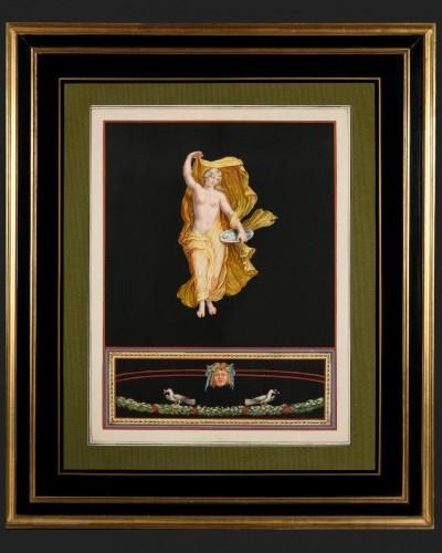 19th century - Pair of Pompeian allegories - Michelangelo Maestri