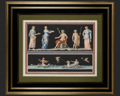 Michelangelo Maestri after Piroli - pair of mythological scenes  - Paintings & Drawings Style