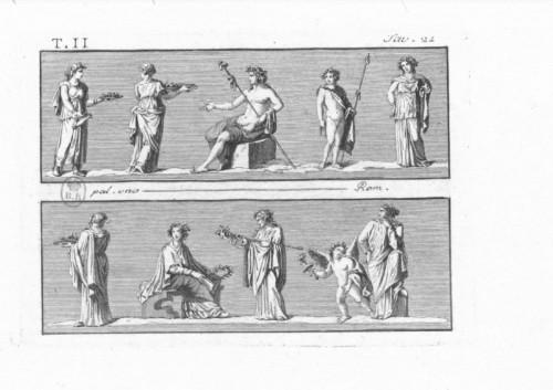 Michelangelo Maestri after Piroli - pair of mythological scenes  -