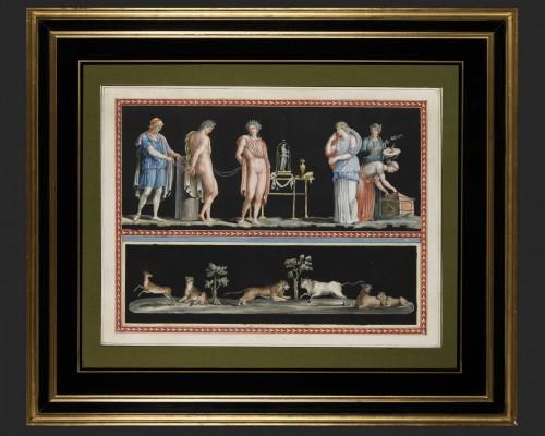 19th century - Michelangelo Maestri after Piroli - pair of mythological scenes