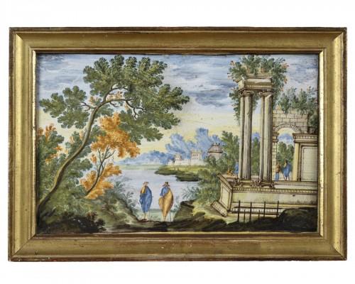 18th Century Castelli Majolica Plate