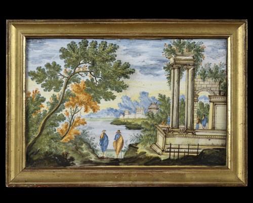 18th Century Castelli Majolica Plate - Porcelain & Faience Style