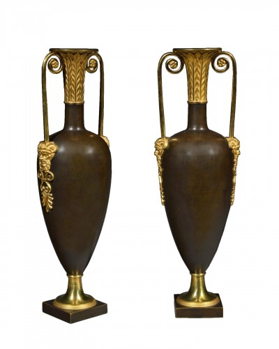 Pair of spindle-shaped vases attributed to Claude Galle - Directoire period