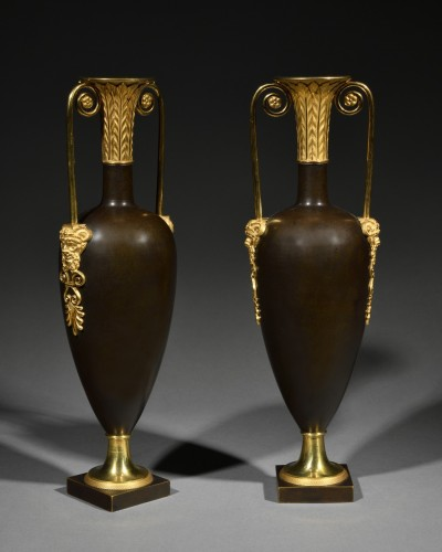 Pair of spindle-shaped vases attributed to Claude Galle - Directoire period - Decorative Objects Style Directoire