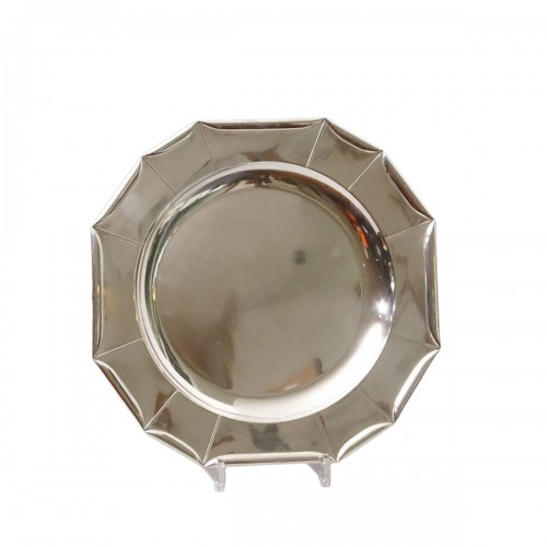 Jean Emile Puiforcat -  large Art Deco Silver Platter circa 1925