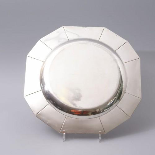 Antique Silver  - Jean Emile Puiforcat -  large Art Deco Silver Platter circa 1925