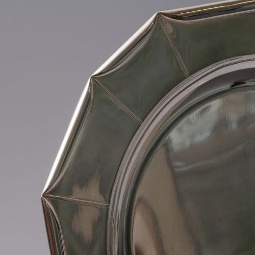 Jean Emile Puiforcat -  large Art Deco Silver Platter circa 1925 - Art Déco