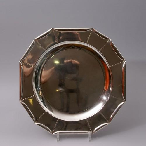 Antiquités - Jean Emile Puiforcat -  large Art Deco Silver Platter circa 1925