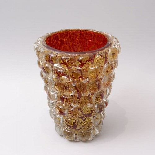 "Ercole Barovier (1889-1974) - ""Lenti"" Vase - Glass & Crystal Style Art Déco"