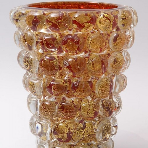 "Glass & Crystal  - Ercole Barovier (1889-1974) - ""Lenti"" Vase"