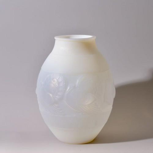 Marius Ernest SABINO -Turkey Vase - Glass & Crystal Style Art Déco