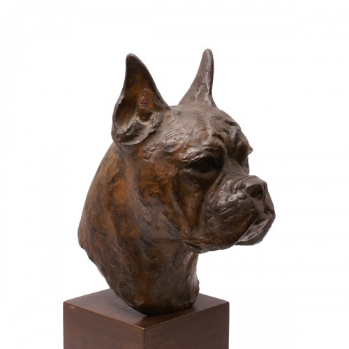 Bronze Boxer Head -  Pierre Blanc (1902-1986)