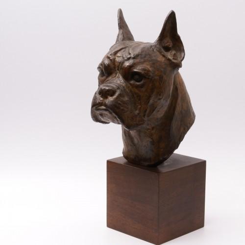 Bronze Boxer Head -  Pierre Blanc (1902-1986) - Sculpture Style 50