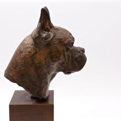 Bronze Boxer Head -  Pierre Blanc (1902-1986) -
