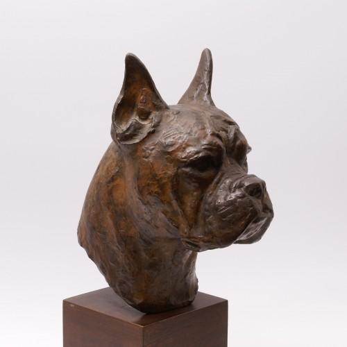 20th century - Bronze Boxer Head -  Pierre Blanc (1902-1986)