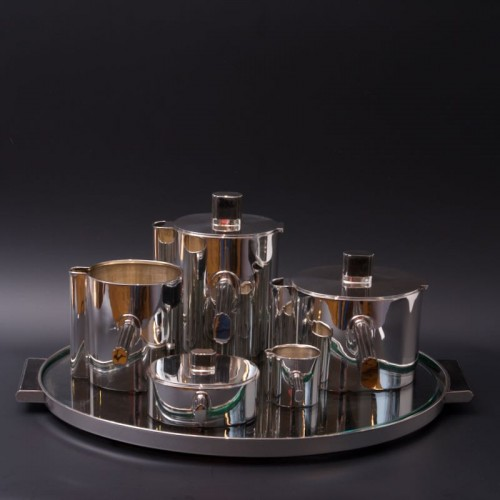Sterling Silver Modernist Tea and Coffee Set - Germany 1930 - Antique Silver Style Art Déco