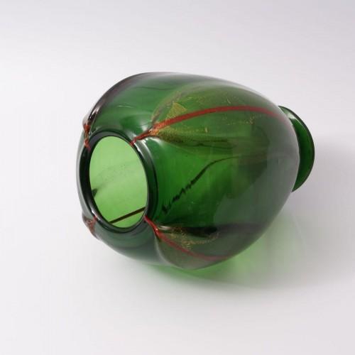 Vittorio Dona - Glass Vase by S.A.I.A.R. Ferro Toso in Murano - Art Déco