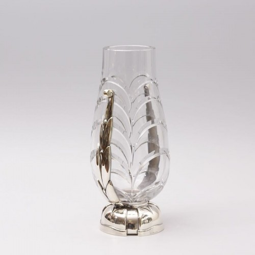 Cut Crystal Vase by Georges Chevalier - Glass & Crystal Style Art Déco