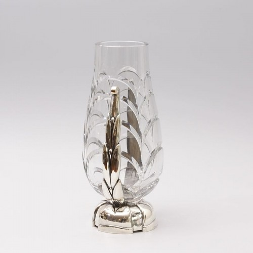 Glass & Crystal  - Cut Crystal Vase by Georges Chevalier