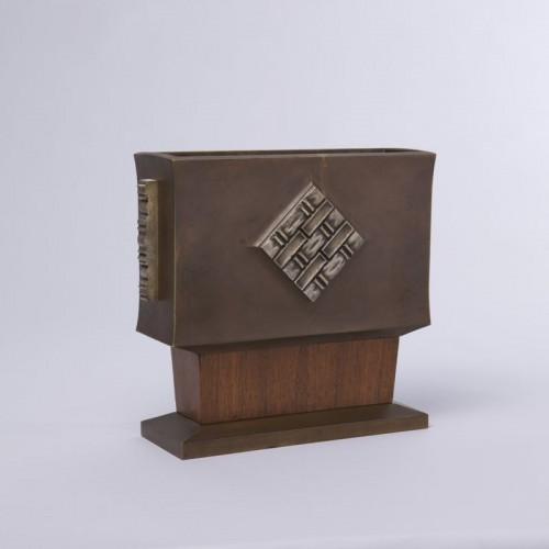 Art-déco Bronze and Wood Vase - Paul Bonifas - Decorative Objects Style Art Déco