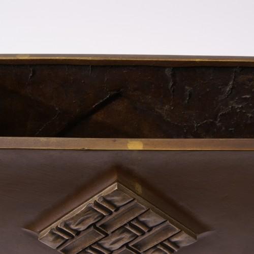 Art-déco Bronze and Wood Vase - Paul Bonifas - Art Déco